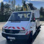 Nacelle sur Porteur Télescopique 17 m Hauteur Maximum: 17 m Déport: 6 m Longueur camion Mercedes Sprinter: 6,682m
